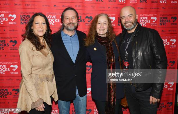 Karen Pearl John Robblee Alyson MoadelRobblee and Stephen Covello attend Love Rocks NYC PreConcert Cocktail Party at CESCA Restaurant on March 7 2019...