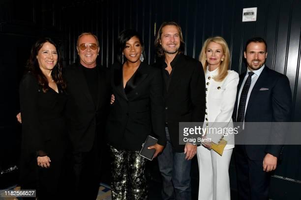 Karen Pearl Michael Kors Tiffany Haddish Lance LePere Blaine Trump and Terrence Meck attend God's Love We Deliver Golden Heart Awards on October 21...