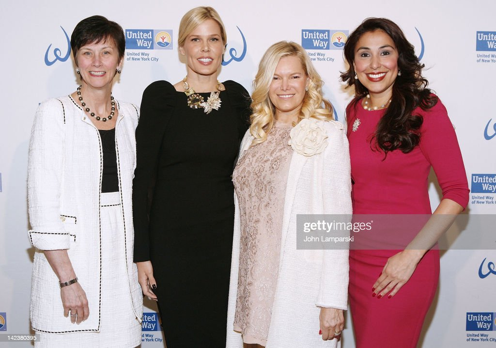 Karen Peetz, Mary Alice Stephenson, Avis Richards and Ivette Fernandez attend the United Way Of New York City's Women's Leadership Council's 6th annual Power Of Women To Make A Difference awards luncheon at The Plaza Hotel on April 3, 2012 in New York City.