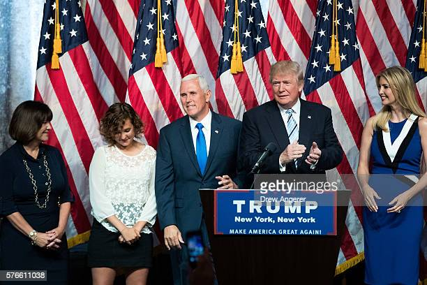 Karen Pence daughter Charlotte Pence newly selected vice presidential running mate Mike Pence governor of Indiana Republican presidential candidate...