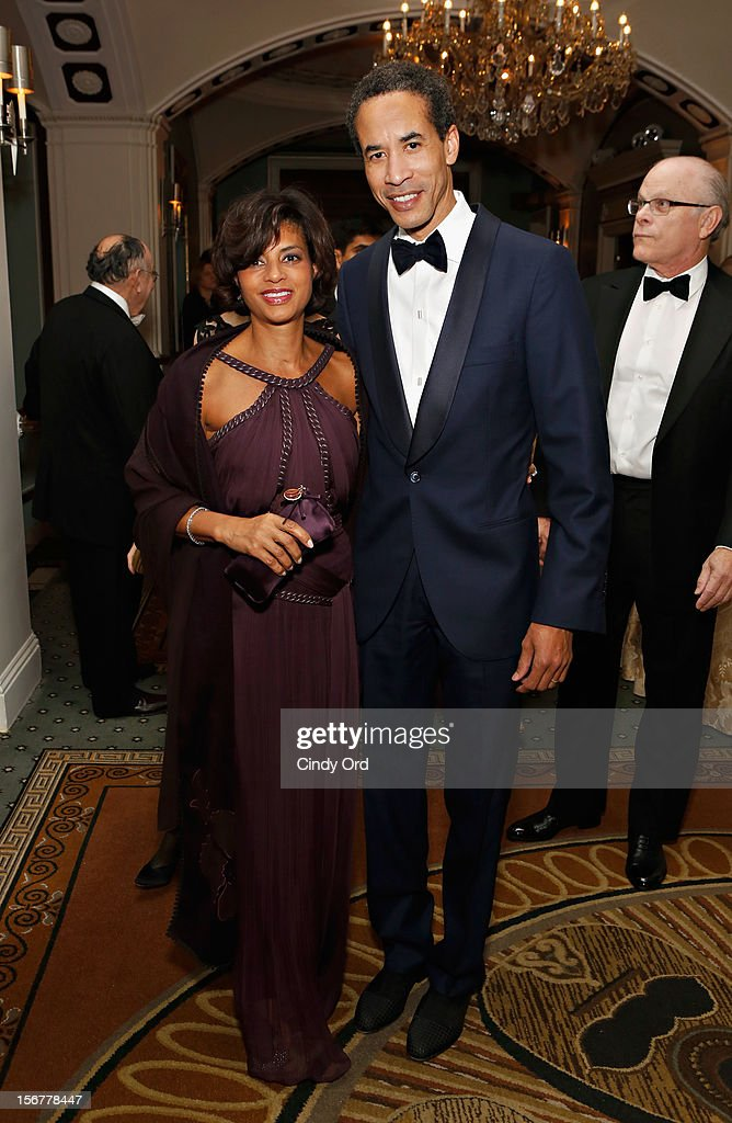 Karen Phillips and Charles Phillips attend the 2012 History Makers Gala at The Pierre Hotel on November 20, 2012 in New York City.