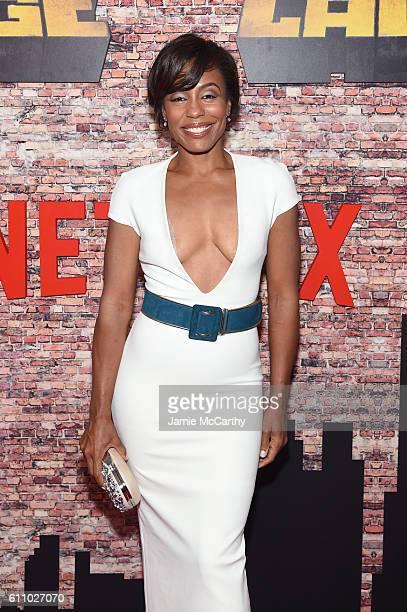 Karen Pittman attends the Luke Cage New York Premiere at AMC Magic Johnson Harlem on September 28 2016 in New York City