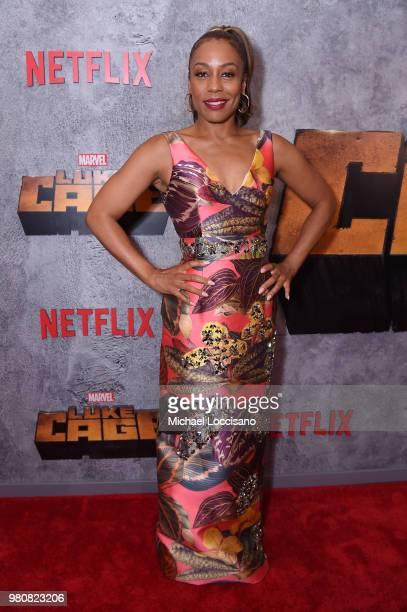 Karen Pittman attends the Netflix Original Series Marvel's Luke Cage Season 2 New York City Premiere on June 21 2018 in New York City