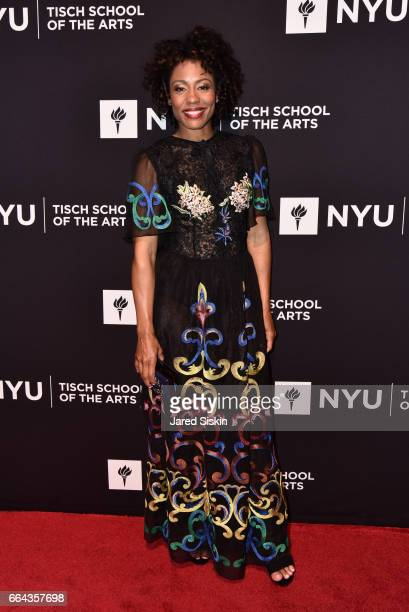 Karen Pittman attends the Tisch School Gala 2017 at Cipriani 42nd Street on April 3 2017 in New York City