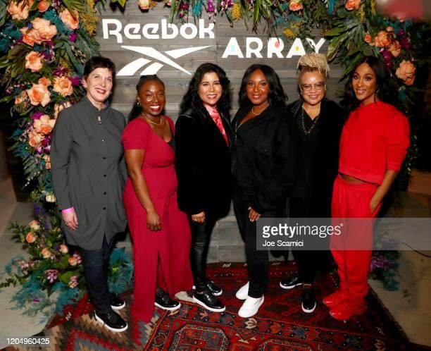 Karen Reuther, Dani Kwateng-Clark, Nisha Ganatra, Stella Meghie, Kasi Lemmons, and Mj Rodriguez attend Reebok x ARRAY: A Celebration of Women in Film...