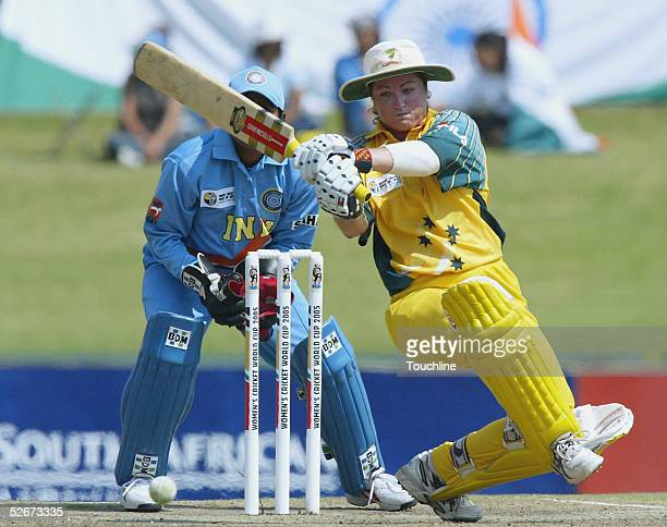 Karen Rolton of Australia in action during the IWCC Women's World Cup Final match between India and Australia at Supersport Park Stadium on April 10...