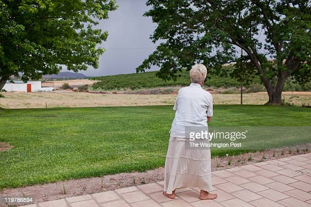 Karen Romney watches for a rain storm in Colonia Juarez Mexico in July 2011 The families ranches were having a hard time due to a long dry spell...