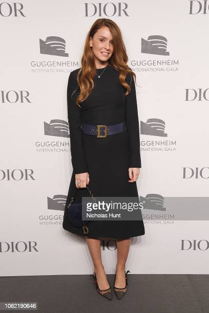 Karen Rouch attends the Guggenheim International Gala Dinner made possible by Dior at Solomon R Guggenheim Museum on November 15 2018 in New York City