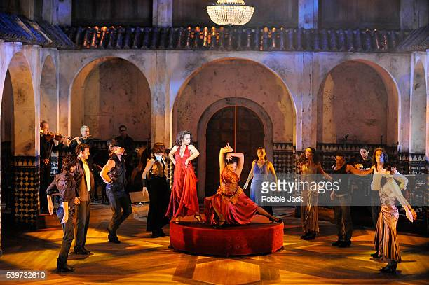 Karen Ruimy and Sharon Sultan perform with artists of the company in the production Flamenco Flamen'ka at the Lyric Theatre in London