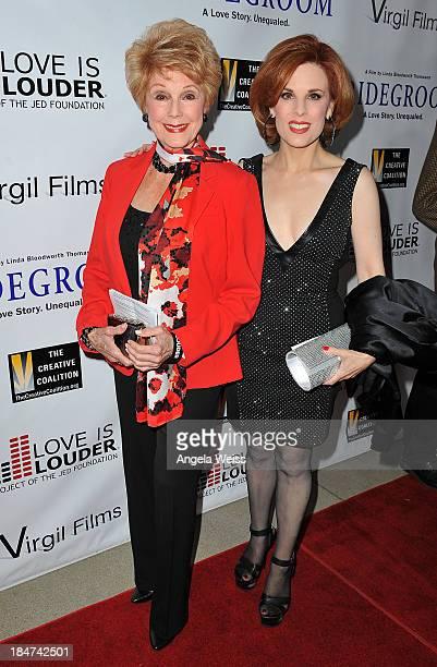 Karen Sharpe and daughter Kat Kramer attend the premiere of 'Bridegroom' benefiting Love is Louder at AMPAS Samuel Goldwyn Theater on October 15 2013...