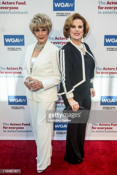 Karen Sharpe and Kat Kramer arrive at The Actor's Fund 23rd Annual Tony Awards Viewing Gala at Skirball Cultural Center on June 09 2019 in Los...