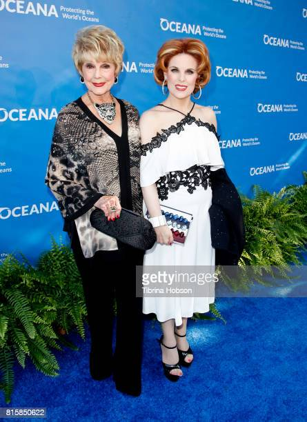 Karen Sharpe and Kat Kramer attend the 10th annual Oceana SeaChange Summer Party at Private Residence on July 15 2017 in Laguna Beach California