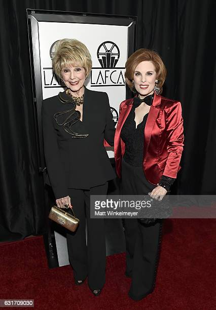Karen Sharpe and Kat Kramer attend the 42nd annual Los Angeles Film Critics Association Awards at InterContinental Los Angeles Century City on...