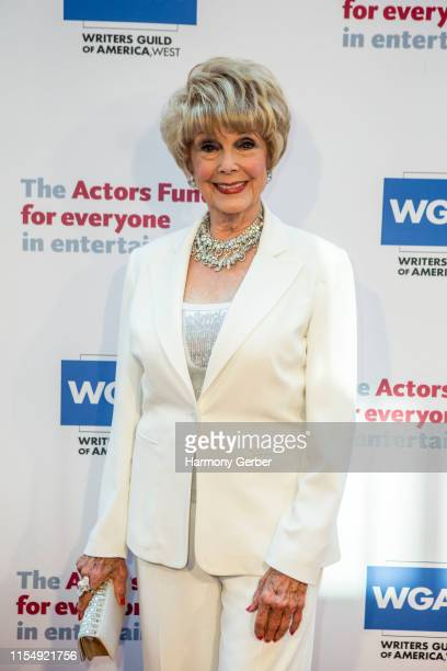Karen Sharpe arrives at The Actor's Fund 23rd Annual Tony Awards Viewing Gala at Skirball Cultural Center on June 09 2019 in Los Angeles California