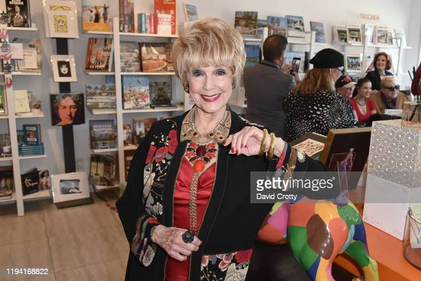 Karen Sharpe attends the MaddoxTomlin Book Signing At Just Fabulous Palm Springs at Just Fabulous on December 15 2019 in Palm Springs California