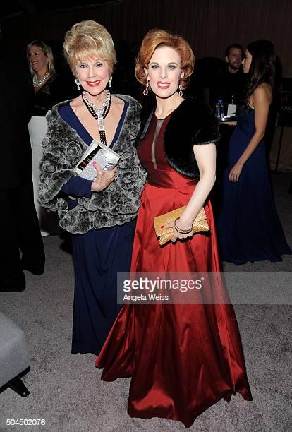 Karen Sharpe Kramer and Kat Kramer attend The Weinstein Company and Netflix Golden Globe Party presented with DeLeon Tequila Laura Mercier Lindt...