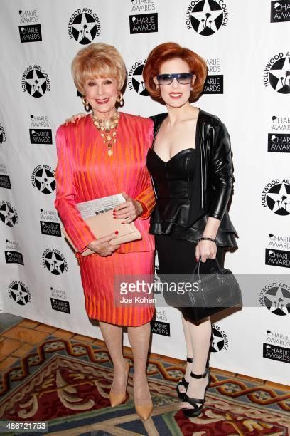 Karen SharpeKramer and Kat Kramer attend the Hollywood Arts Council's 28th Annual Charlie Awards at Hollywood Roosevelt Hotel on April 25 2014 in...