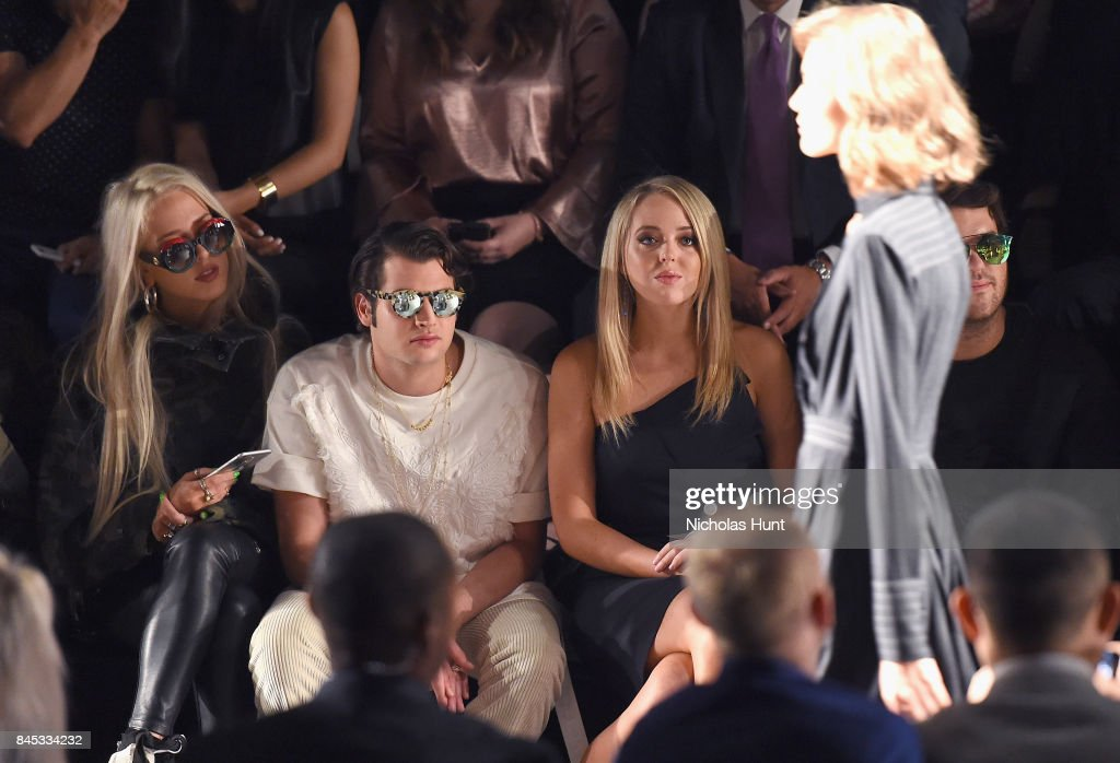 Karen Shiboleth, Peter Brant, Jr. and Tiffany Trump attend the Taoray Wang fashion show during New York Fashion Week: The Shows at Gallery 1, Skylight Clarkson Sq on September 9, 2017 in New York City.