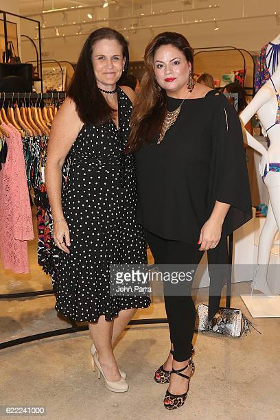 Karen Straney and CMO Founder of Dreamweaver Brand Communications Cynthia Srednicki attend the Trina Turk And Mr Turk Miami Boutique Grand Opening at...