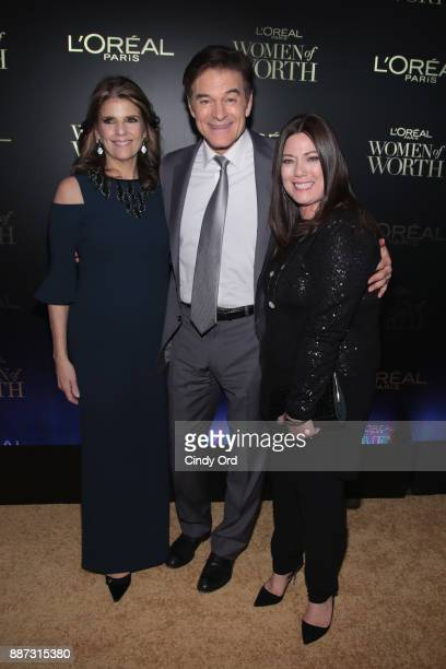 Karen T Fondu Dr Mehmet Oz and Gretchen Holt Witt attend the L'Oreal Paris Women of Worth Celebration 2017 on December 6 2017 in New York City