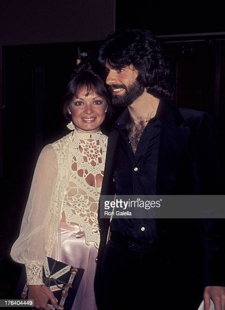 Karen Valentine and Gary Verna attend 34th Annual Golden Globe Awards on January 29 1977 at the Beverly Hilton Hotel in Beverly Hills California