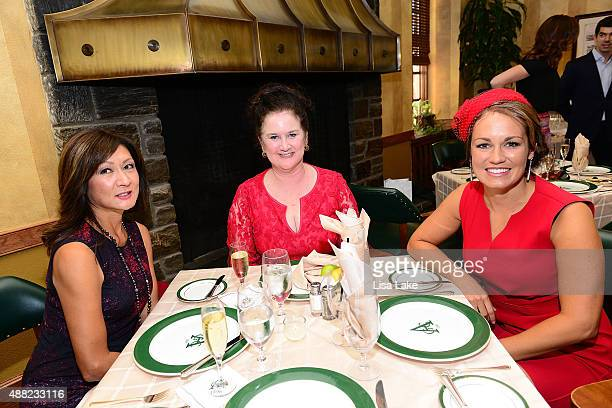 Karen Veazey Lisa Todd and Brittany Hartnett attend Ladies Champagne Caviar Luncheon hosted by Dorys Erving at Aronimink Golf Club on September 14...