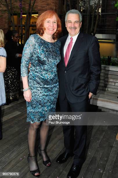 Karen Wagner and President of The Child Mind Institute Dr Harold S Koplewicz attend the 2018 Change Maker Awards at Carnegie Hall on May 7 2018 in...