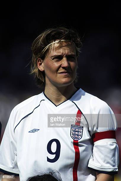 Karen Walker of England during the FIFA 2003 Woman's World Cup Qualifing match between England and Germany played at Selhurst park in London England...