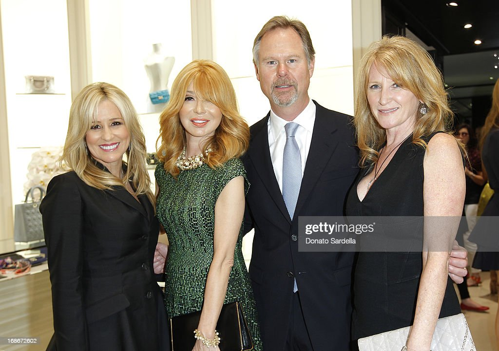Karen Watkins, Elizabeth Segerstrom, Anton Segerstrom and Jennifer Segerstrom attend Dior celebrates the opening of Dior Couture Patrick Demarchelier Exhibition at the Dior store at South Coast Plaza May 10, 2013 in Costa Mesa, California.