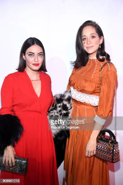 Karen Wazen and Lana El Sahely attend Le Bal Surrealiste Dior during Haute Couture Spring Summer 2018 show as part of Paris Fashion Week on January...