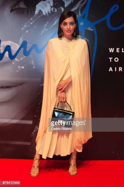 Karen Wazen attends the Dubai International Airshow Gala Dinner at Atlantis The Palm on November 15 2017 in Dubai United Arab Emirates