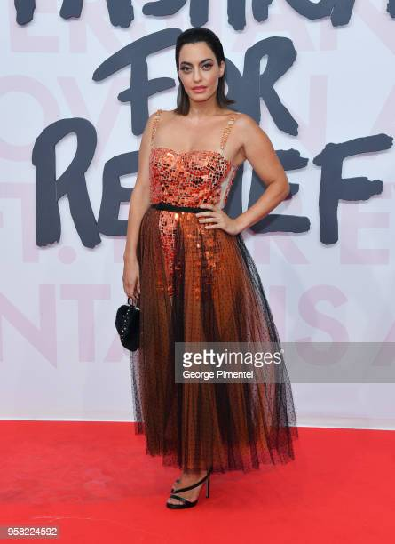 Karen Wazen Bakhazi attends Fashion For Relief Cannes 2018 during the 71st annual Cannes Film Festival at Aeroport Cannes Mandelieu on May 13 2018 in...