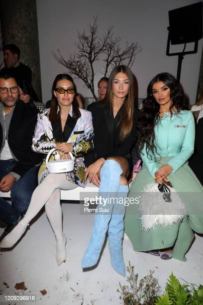 Karen Wazen Lorena Rae and Fajer Fahed attend the Ralph Russo show as part of the Paris Fashion Week Womenswear Fall/Winter 2020/2021 on February 28...
