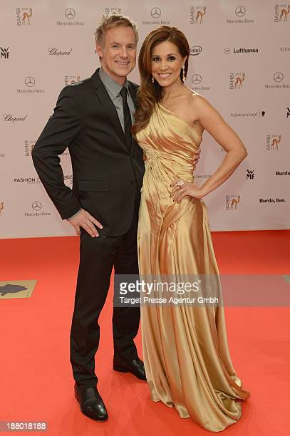 Karen Webb and Christian Muerau attend the Bambi Awards 2013 at Stage Theater on November 14 2013 in Berlin Germany