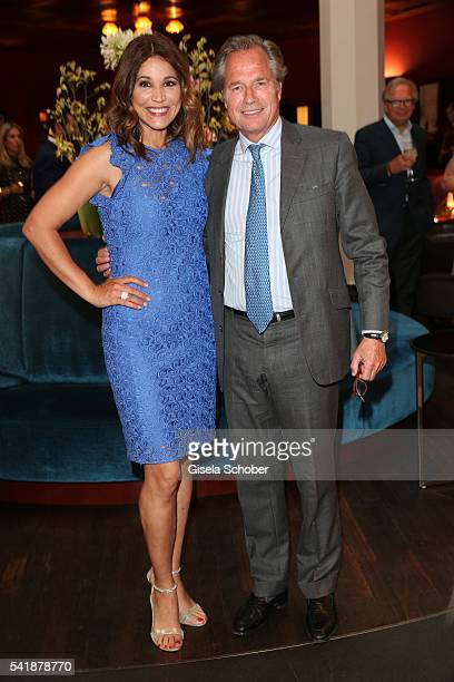 Karen Webb and Publisher Hendrik teNeues during the presentation of the book 'Zu Gast in Griechenland Rezepte Kueche Kultur' at 'The Charles' Hotel...