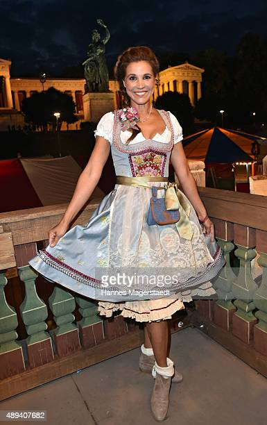 Karen Webb attends the Almauftrieb during the Oktoberfest 2015 at Kaefer Tent on September 20 2015 in Munich Germany