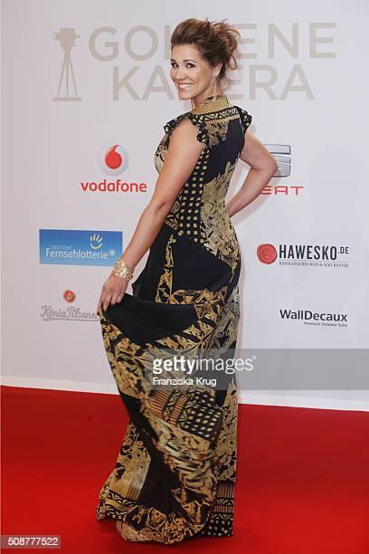 Karen Webb attends the Goldene Kamera 2016 on February 6 2016 in Hamburg Germany
