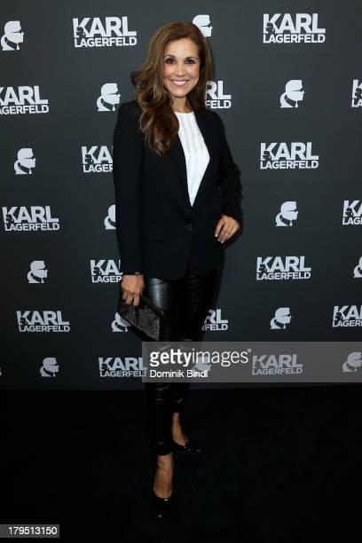 Karen Webb attends the Karl Lagerfeld store opening on September 4 2013 in Munich Germany