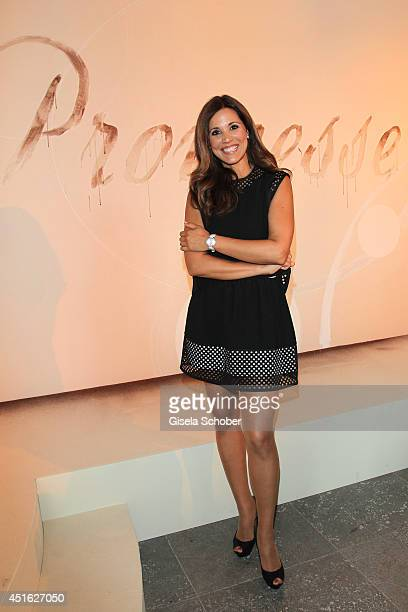 Karen Webb attends the presentation of the Baume & Mercier 'Promesse' Ladies Collection at Haus der Kunst on July 2, 2014 in Munich, Germany.