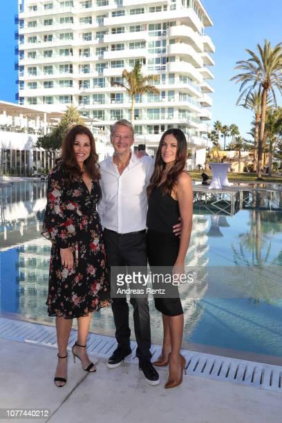 Karen Webb Kai Wiesinger and Bettina Zimmermann attend the reopening of ROBINSON Club Jandia Playa on December 04 2018 in Fuerteventura Spain