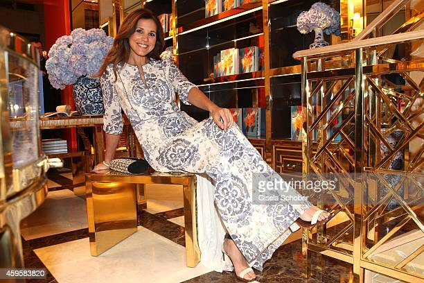 Karen Webb wearing a dress of Tory Burch during the 'Tory Burch In Color' Book Launch on November 25 2014 in Munich Germany