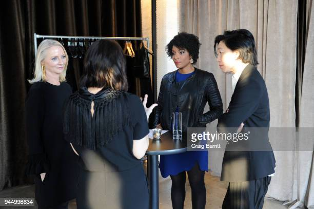 Karen Wong Linda Wells Stella Bugbee and Zerlina Maxwell attend The Cut's How I Get It Done event at Neuehouse on April 11 2018 in New York City
