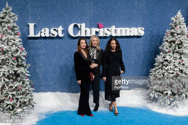 Karen Woodward and Sara Dallin of Bananarama attend the UK film premiere of 'Last Christmas' at the BFI Southbank on 11 November 2019 in London...
