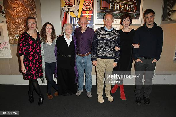 Karen Young Portia Reiners Rebecca Schull Jeff Lipsky Reed Birney Julianne Nicholson and Jamie Harrold attend a sneak preview of Flannel Pajamas...