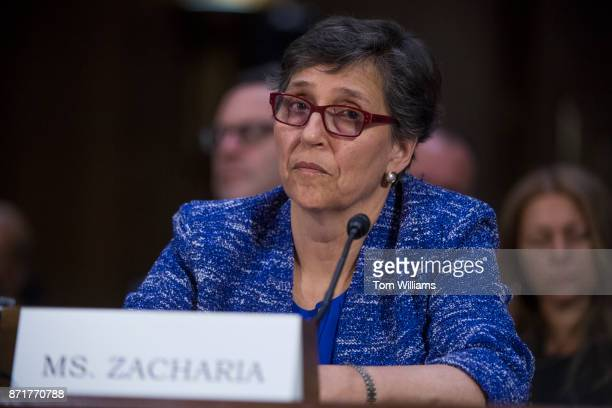 Karen Zacharia deputy general counsel and chief privacy officer for Verizon testifies during a Senate Commerce Science and Transportation Committee...