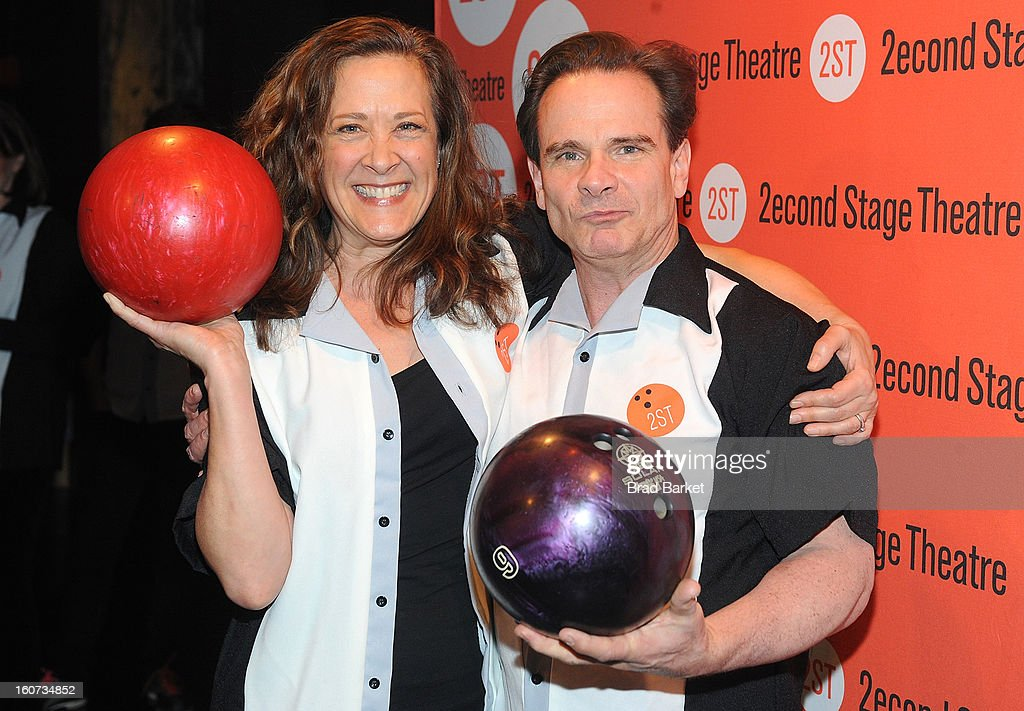 Karen Ziemba and Peter Scolari attend the Second Stage Theatre's 26th Annual All-Star Bowling Classic at Lucky Strike on February 04, 2013 in New York City.