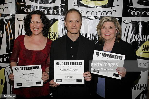 Karen Ziemba David Hyde Pierce and Debra Monk during Drama Desk Cocktail Reception for Nominees May 1 2007 at Arte' Cafe in New York City New York...