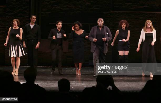 Karen Ziemba Michael Xavier Brandon Uranowitz Bryonha Marie Parham Chuck Cooper Janet Dacal and Emily Skinner during the Broadway Opening Night...