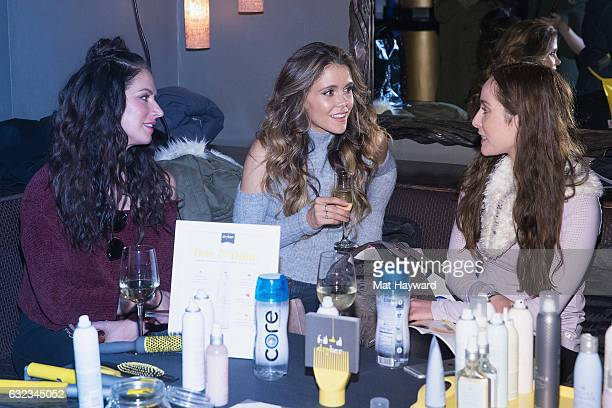 Karena Dawn and Katrina Scott give an interview in the Tone It Up Wellness Lounge during the Sundance Film Festiva on January 21, 2017 in Park City,...