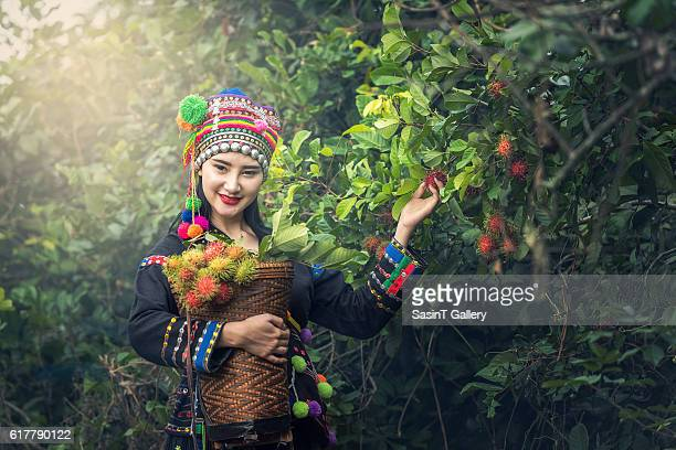 Karens girl with traditional clothes